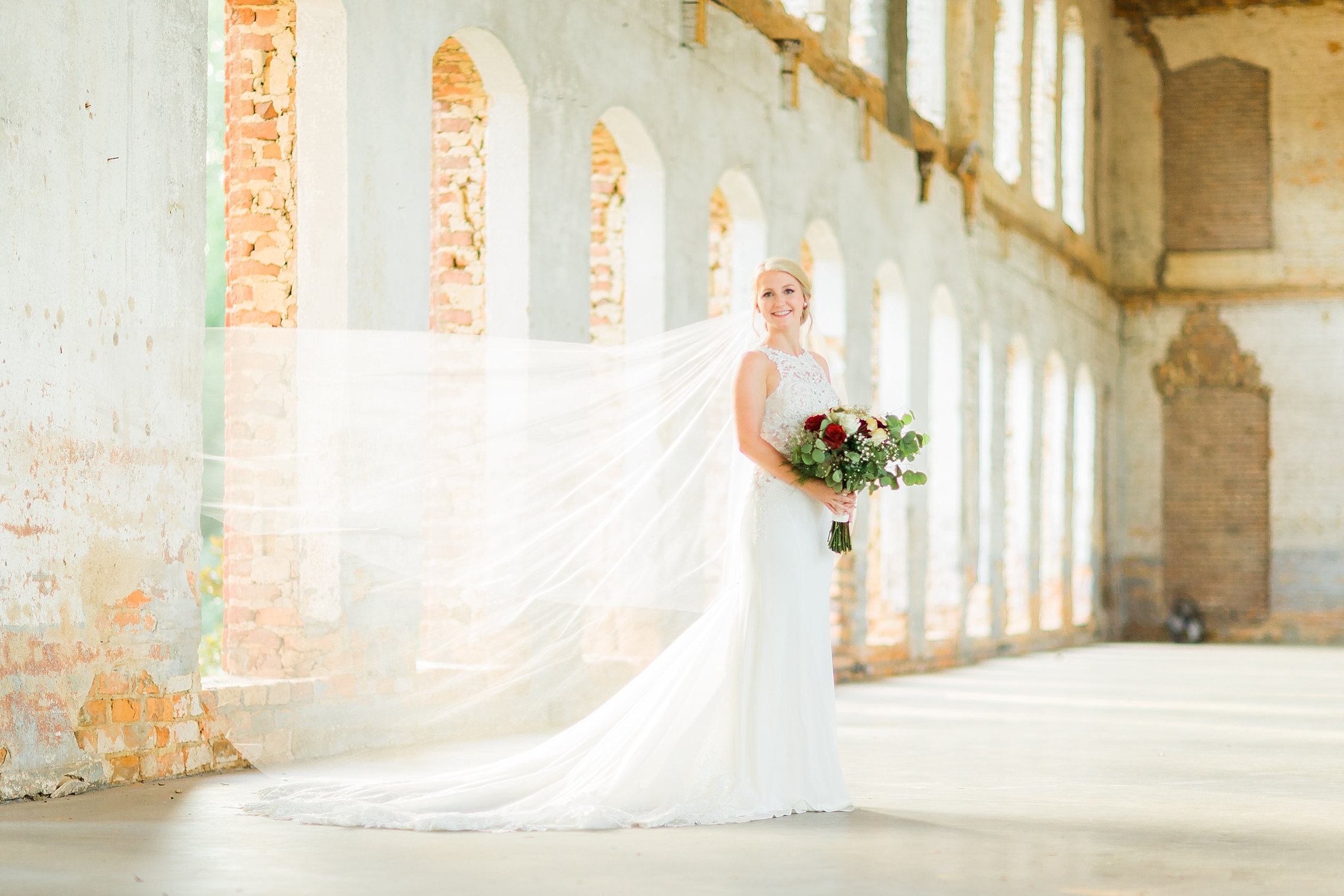 Providence Cotton Mill Bridal Portrait