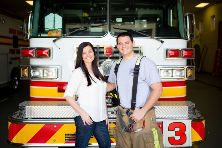 Boca Raton Firefighter Engagement Photography_0001