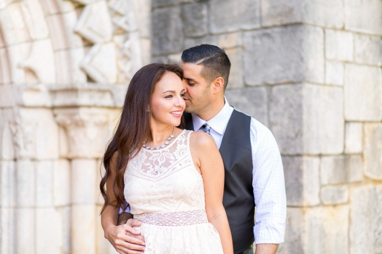 Ancient Spanish Monastery Engagement Photography_0002