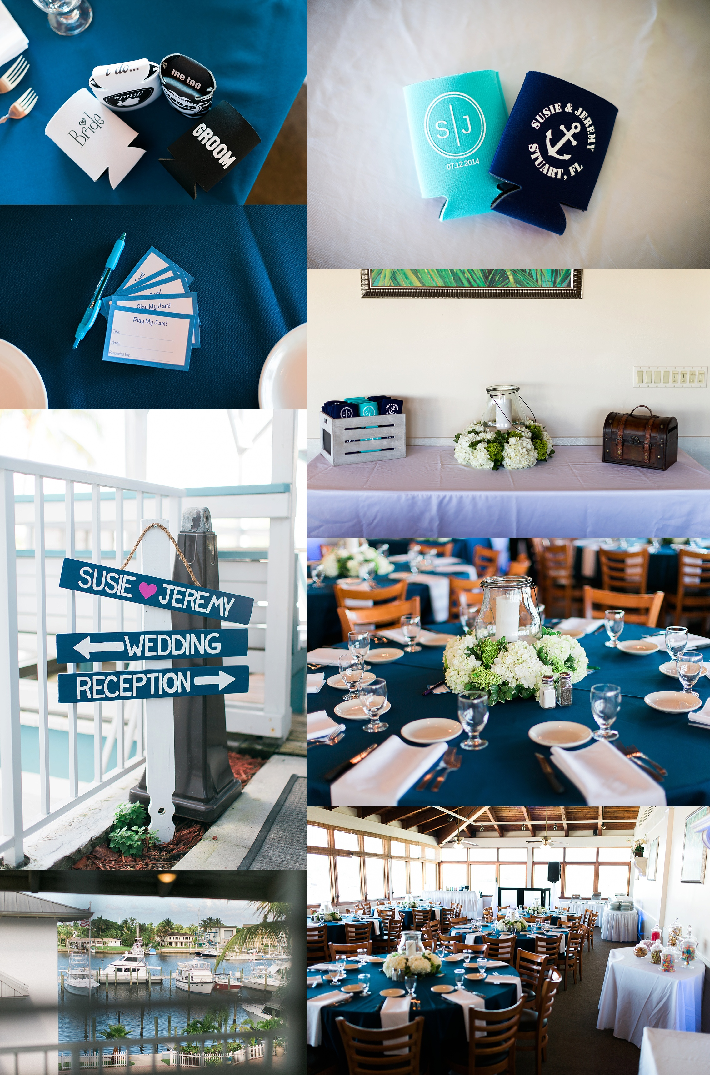 Nautical themed wedding at Pirate