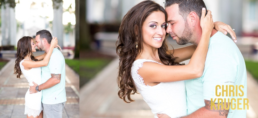Mizner Park Boca Raton Engagement Photo