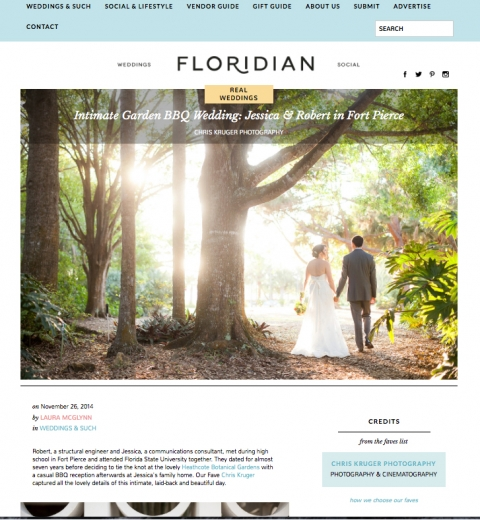 Vero Beach Wedding Photography Botanical Garden